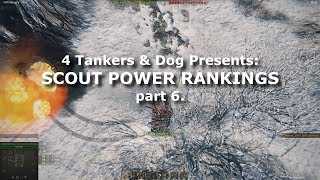 WoT: Scout Power Rankings, part 6.