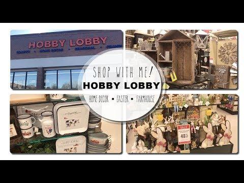 HOBBY LOBBY SHOP WITH ME 2018 | HOME DECOR, EASTER, FARMHOUSE DECOR