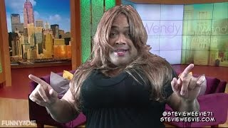 comedian stevieweevie spoofs wendy williams testicles over jay z justin timberlake s holy grail