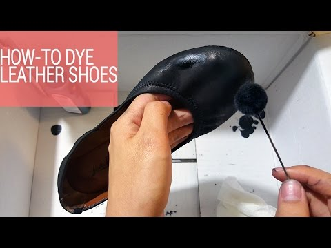 b9cb5862dbecb6 How to Dye Leather Shoes to a Different Color - YouTube