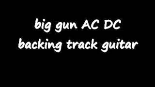 big gun AC DC backing track guitar