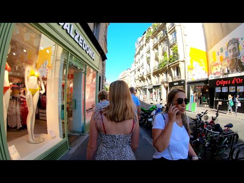 ⁴ᴷ 🇫🇷 Paris Evening Walking Tour, Beautiful Bars And Cafés, France 4K