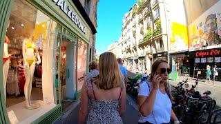 ⁴ᴷ 🇫🇷 Paris evening walking tour, beautiful bars and cafés, France 4K