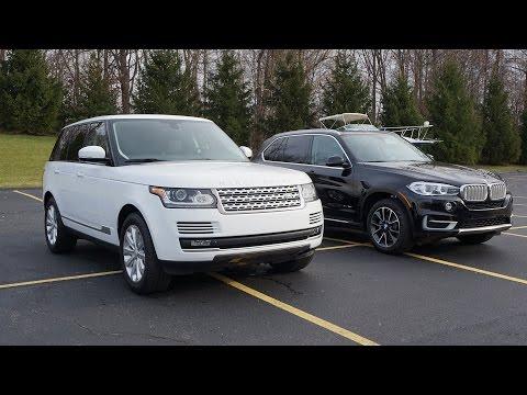 2015 Range Rover HSE and 2015 BMW X5  Видео . Тест драйв 2015 Рендж Ровер и 2015 БМВ F15 X5.