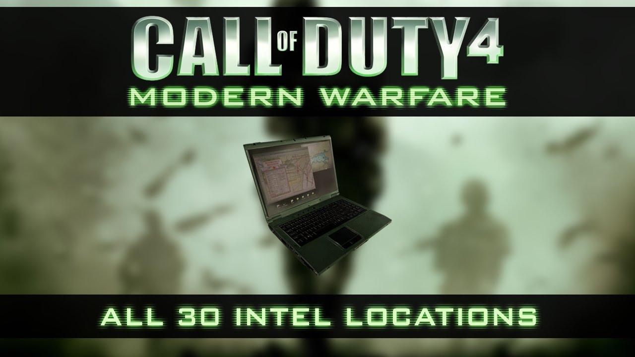 Call of Duty 4 : Modern Warfare All 30 Intel Locations Call Of Duty Modern Warfare Maps List on call of duty mw3 maps list, call of duty black ops maps list, call of duty world at war maps list,