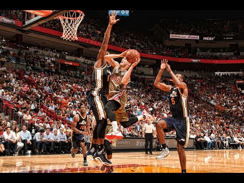 Derrick Favors with 7 Blocks against the Heat