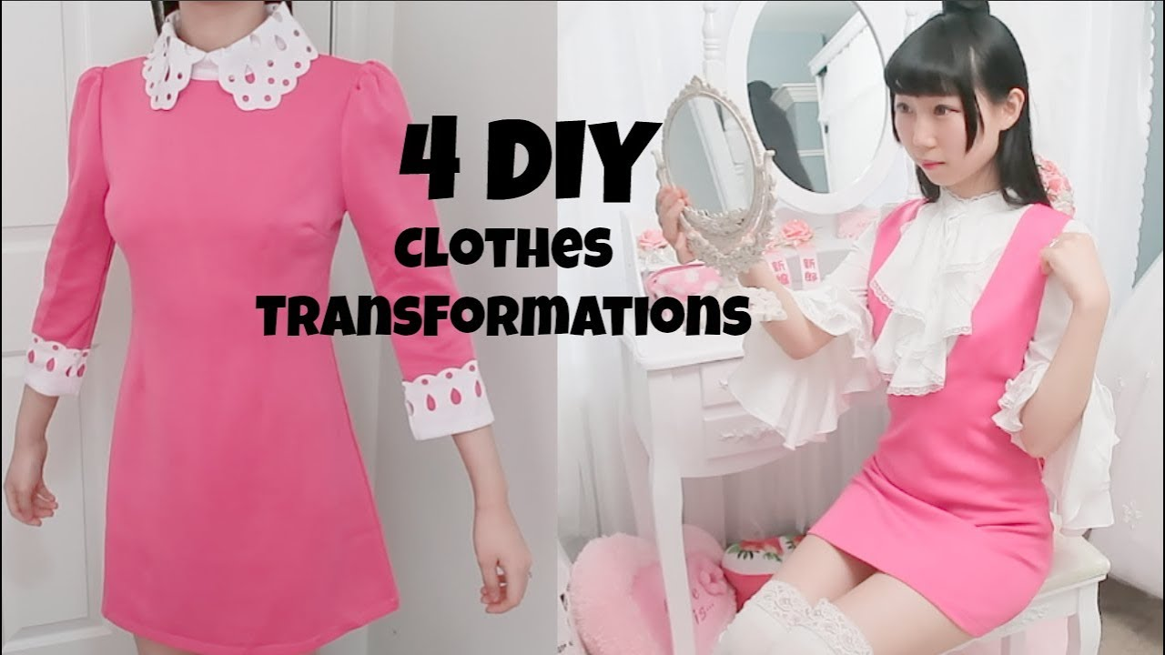 3e27eb89a6c8 4 DIY Clothes Transformations! Ep2 Updating My Closet 2018 - YouTube