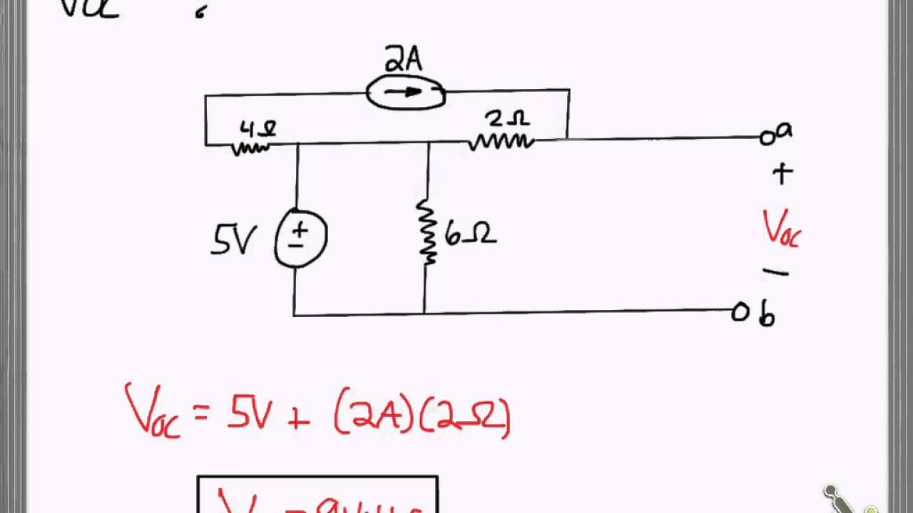 Finding Voc Isc And Req Youtube Circuit Theorems Example Solved Problems Based On Thevenin Theorem