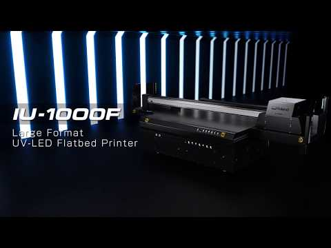 The IU-1000F UV-LED High-Productivity Flatbed Printer Greatly Expands Your Business & Profit