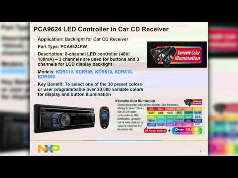 NXP Semiconductors demo of LED in auto receiver tuner