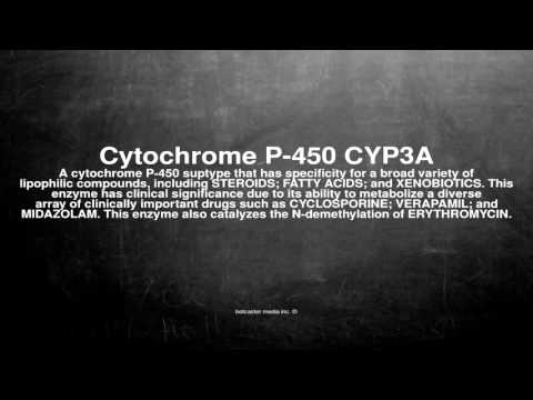 Medical vocabulary: What does Cytochrome P-450 CYP3A mean