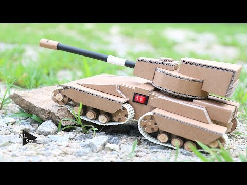 how to build a cardboard tank