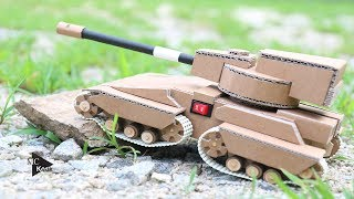 How to make a Tank from Cardboard - Amazing Toy DIY Video