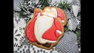 Имбирные пряники Роспись Айсинг Дед Мороз