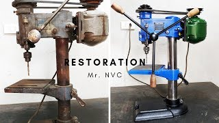 Drill Press Restoration - Step by Step Restoration Very old Drill