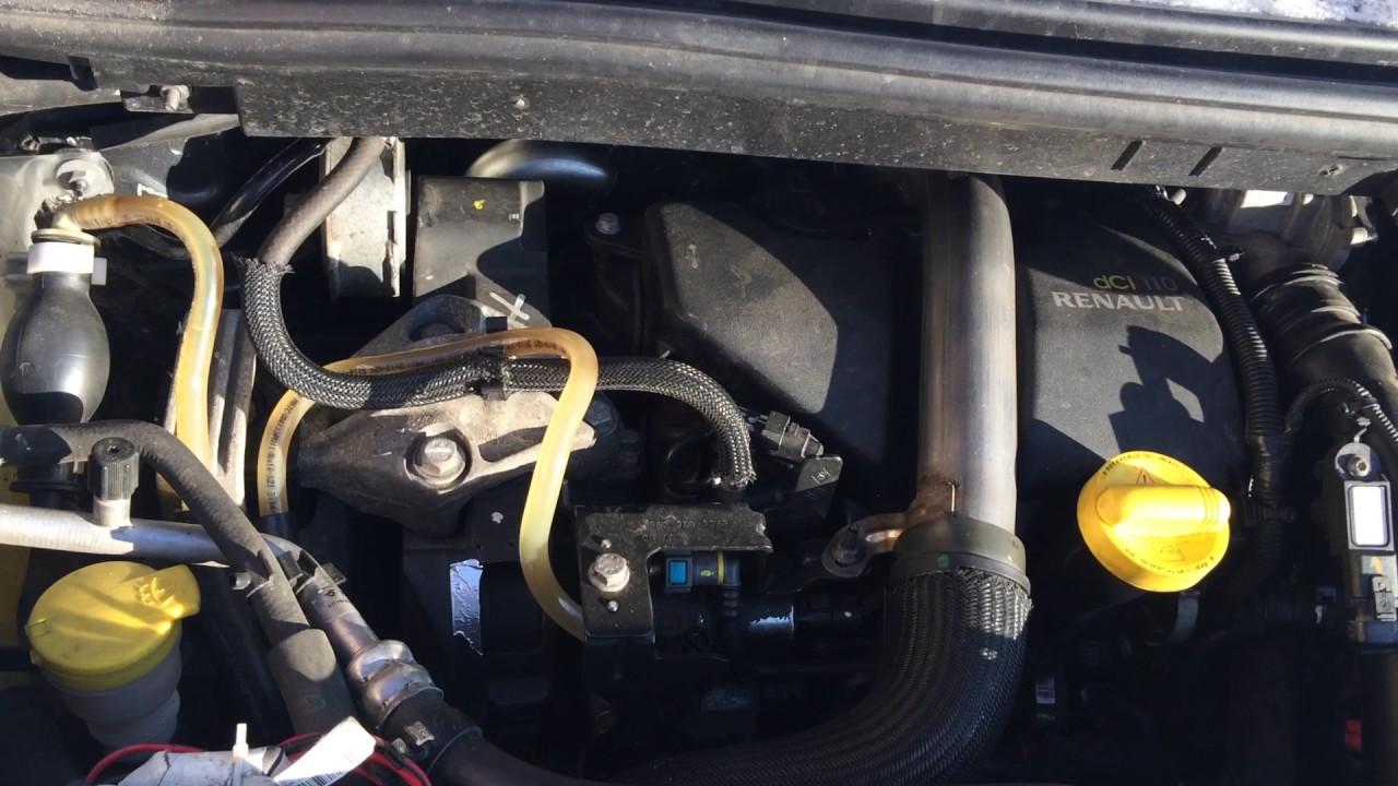 Плохой запуск, топливо не посткпало Renault Grand Scenic 3