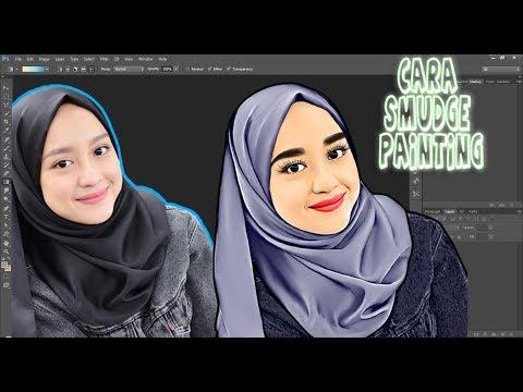 Cara Membuat Foto Menjadi Karikatur Pemula Part 1   SMUDGE PAINTING   PHOTOSHOP