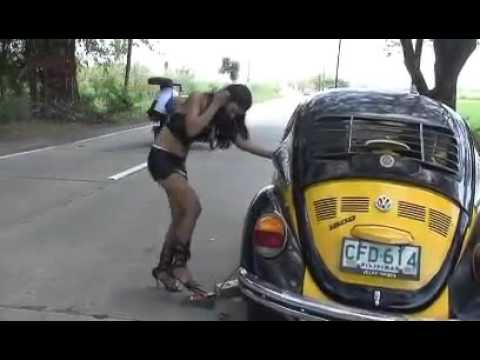 Girl getting flat tire with vw beetle volkswagen youtube publicscrutiny Image collections