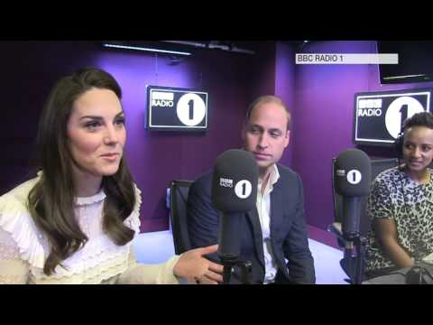 The Duke and Duchess of Cambridge surprise Radio 1 visit
