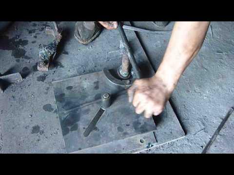 Manual scroll bender wrought ironmachine metal craft tools
