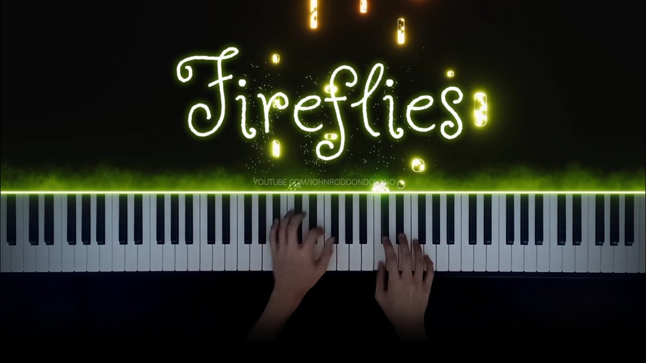 Owl City - Fireflies | Piano Cover with Violins (with Lyrics)