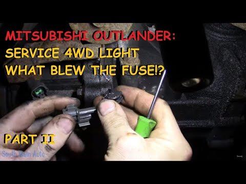 Mitsubishi Outlander: Service 4wd / Air Bag light – PART II
