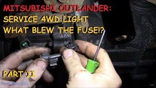Mitsubishi Outlander: Service 4wd / Air Bag light - PART II