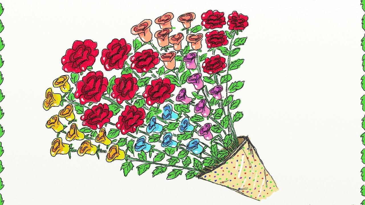 Drawing A Simple Bouquet Of Roses
