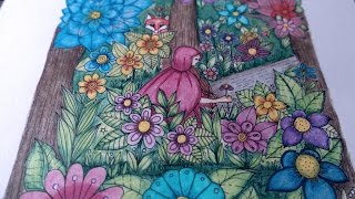 coloring video  - fantasy garden page 45