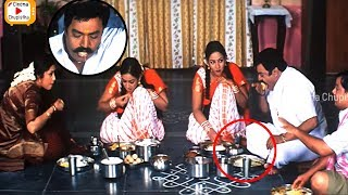 Nandamuri Harikrishna Eating Food Very Funny Scene | Harikrishna | Meena | Cinema Chupistha