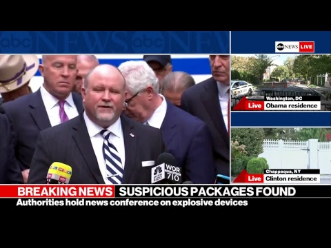 Explosive devices addressed to Hillary Clinton and Obama intercepted; CNN in NYC evacuated