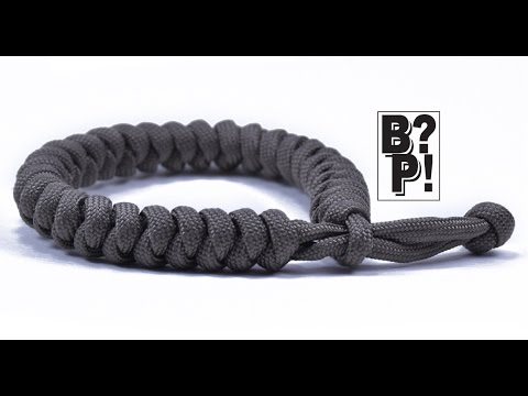 Make The Snake Knot Paracord Celet Mad Max Style Closure