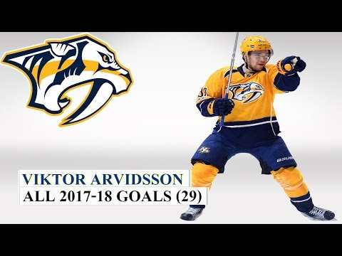 Viktor Arvidsson (#33) All 29 Goals of the 2017-18 NHL Season