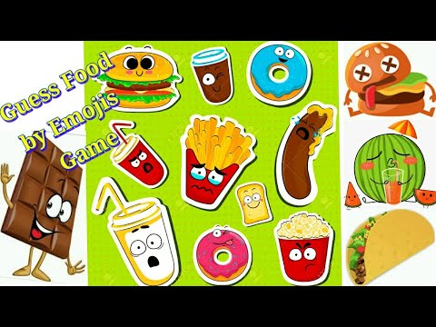 🍕Guess Food By Emojis|Fun Game For Kids & Family|Brain Teaser|Test Your IQ And Challenge Friends