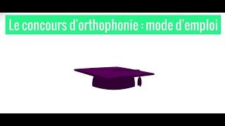 Le concours d'orthophonie