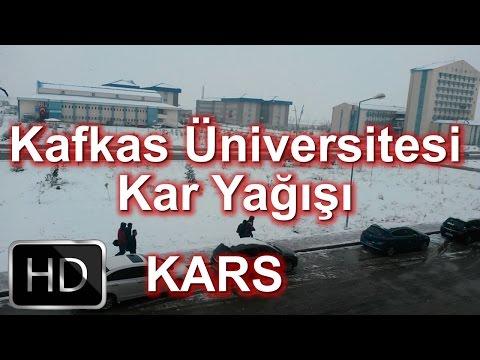 Kars Kafkas Üniversitesi Yılın İlk Kar Yağışı