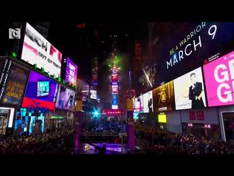 New York rings in 2018 with kisses, confetti