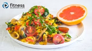 Quick & easy breakfast ideas: Veggie scramble