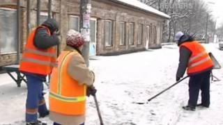 Голодные дворники спасают Донецк от снега