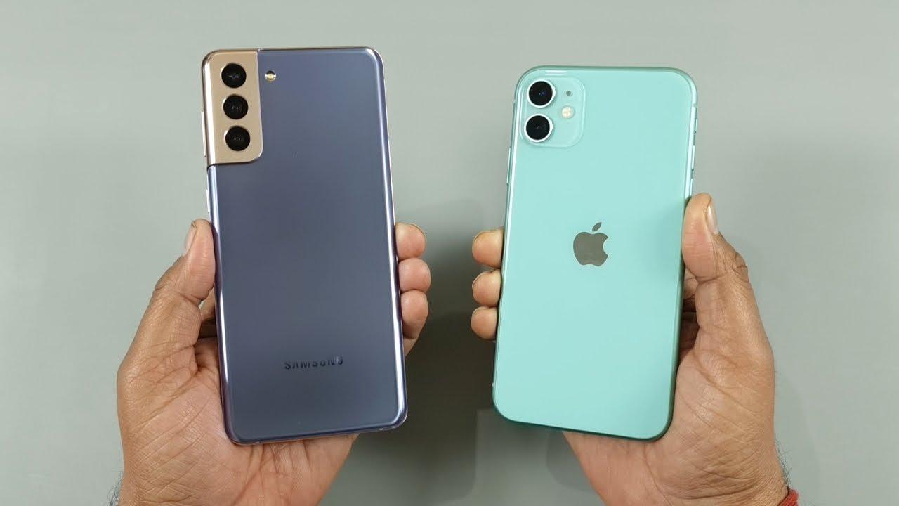 Samsung Galaxy S21 Plus vs iPhone 11 Speed Test & Camera Test - YouTube