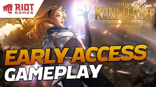 Riot Games' New CCG! Legends of Runeterra EARLY ACCESS Gameplay! | Legends of Runeterra | Savjz
