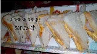 #Cheese #mayo #sandwich 5 mins recipe || quick recipe || yummy recipe||#justyummm