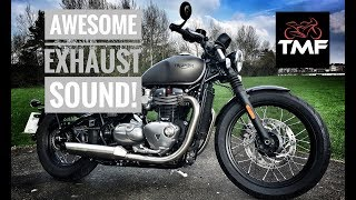 Triumph Bobber - Awesome Exhaust Sound