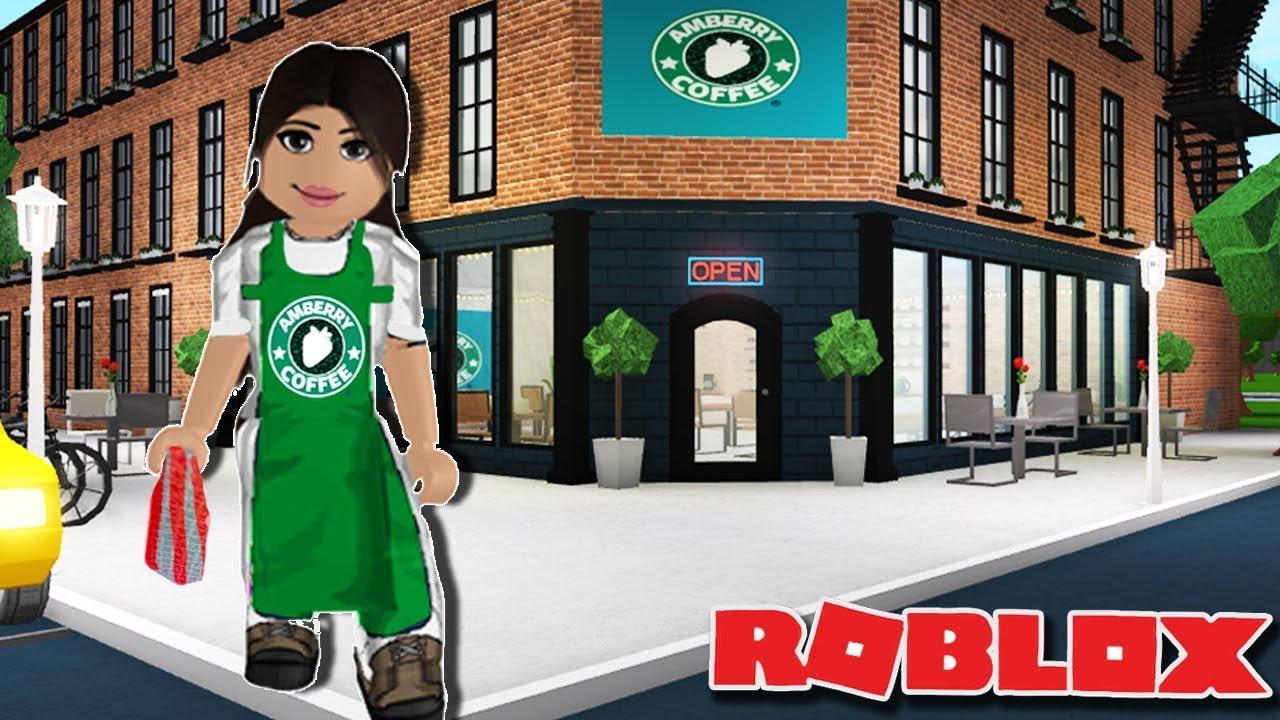 Roblox Cafe Uniform Amberry Coffee Making A Coffee Shop On Bloxburg Roblox Youtube