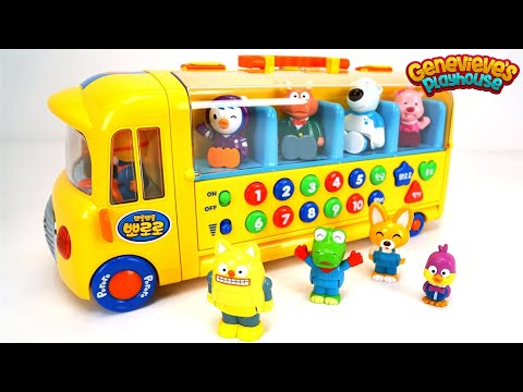 Thumbnail: Best Toddler Learning Videos for Kids Learn Colors Counting Words with Pororo Toy Dollhouse and Bus!