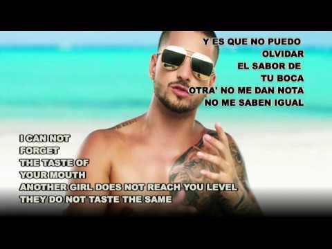No puedo olvidarte – Maluma ft Nicky Jam (Español Letra / English Lyrics)