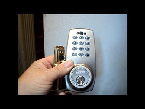 Installing An Electronic Keypad Deadbolt Youtube