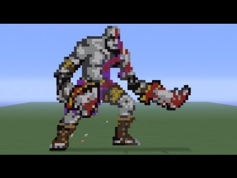 Minecraft Pixel Art: Kratos Tutorial
