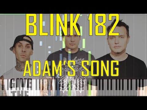 Blink 182 Adams Song Piano Tutorial   Chords  How To Play