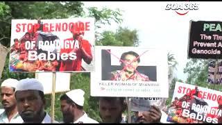 Salcette  muslims on protest; Stop killing Muslims in Myanmar